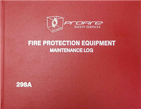 Fire Protection Equipment Log Book # 298A