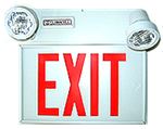 Combination Exit LED Sign/Emergency Lighting