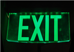 Glass Exit Sign