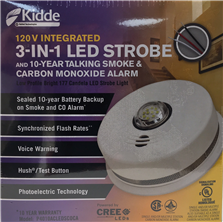 Interconnecting Smoke & CO alarm with Strobe